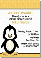 Penguin - Birthday Party Invitations