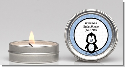 Penguin Blue - Baby Shower Candle Favors