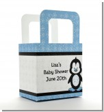 Penguin Blue - Personalized Baby Shower Favor Boxes