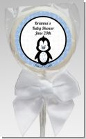Penguin Blue - Personalized Baby Shower Lollipop Favors