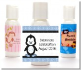 Penguin Blue - Personalized Baby Shower Lotion Favors