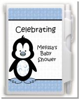 Penguin Blue - Baby Shower Personalized Notebook Favor