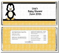 Penguin - Personalized Baby Shower Candy Bar Wrappers