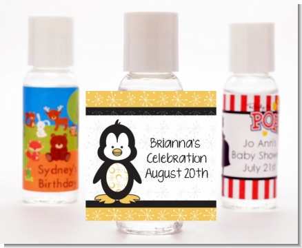 Penguin - Personalized Baby Shower Hand Sanitizers Favors