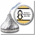Penguin - Hershey Kiss Baby Shower Sticker Labels thumbnail