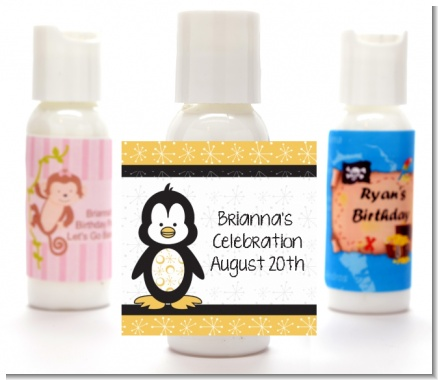 Penguin - Personalized Baby Shower Lotion Favors