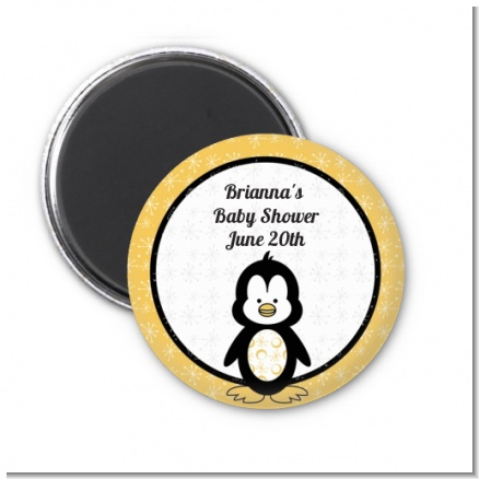 Penguin - Personalized Baby Shower Magnet Favors