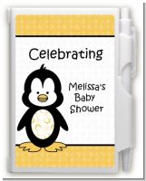 Penguin - Baby Shower Personalized Notebook Favor