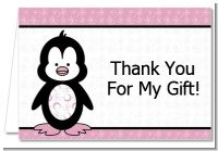Penguin Pink - Birthday Party Thank You Cards