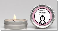 Penguin Pink - Baby Shower Candle Favors