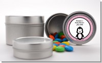 Penguin Pink - Custom Baby Shower Favor Tins