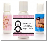 Penguin Pink - Personalized Birthday Party Lotion Favors