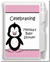 Penguin Pink - Baby Shower Personalized Notebook Favor