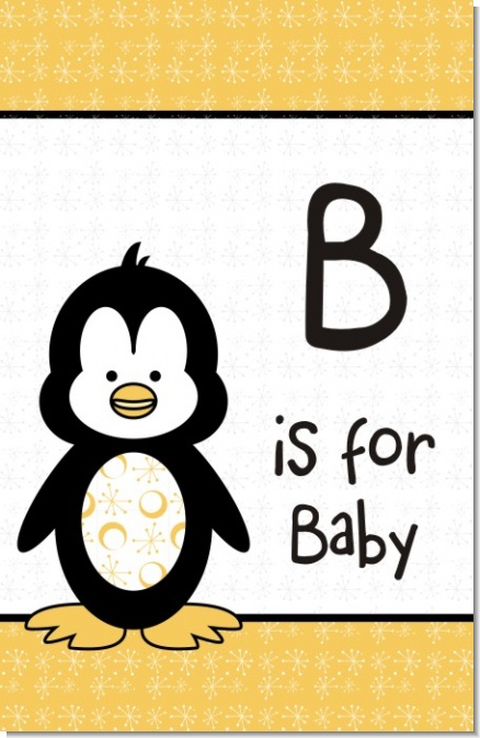 Penguin - Personalized Baby Shower Nursery Wall Art