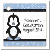Penguin Blue - Personalized Birthday Party Card Stock Favor Tags