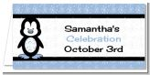 Penguin Blue - Personalized Baby Shower Place Cards