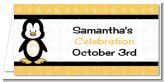 Penguin - Personalized Baby Shower Place Cards
