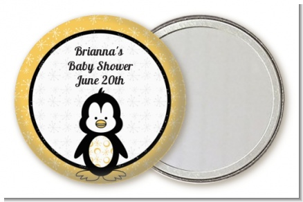 Penguin - Personalized Baby Shower Pocket Mirror Favors
