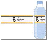 Penguin - Personalized Baby Shower Water Bottle Labels