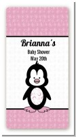 Penguin Pink - Custom Rectangle Baby Shower Sticker/Labels