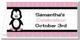 Penguin Pink - Personalized Baby Shower Place Cards