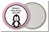 Penguin Pink - Personalized Baby Shower Pocket Mirror Favors