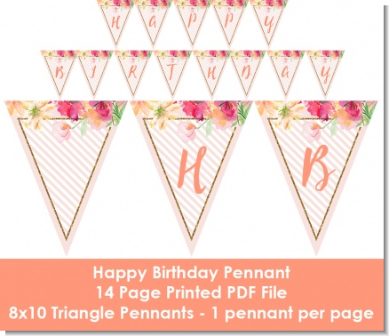 Fun to be One - 1st Birthday Girl - Birthday Party Themed Pennant Set