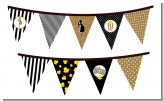 About To Pop Gold Glitter - Baby Shower Themed Pennant Set