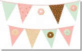 Donut Party - Birthday Party Themed Pennant Set