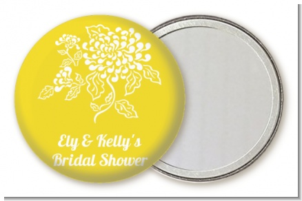 Peony - Personalized Bridal Shower Pocket Mirror Favors