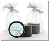 Peppermint Candy - Christmas Black Candle Tin Favors