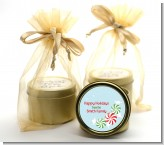 Peppermint Candy - Christmas Gold Tin Candle Favors