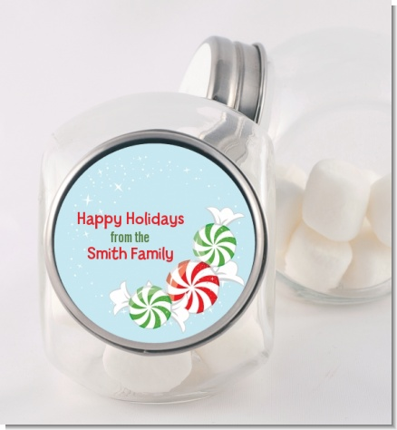 Peppermint Candy - Personalized Christmas Candy Jar