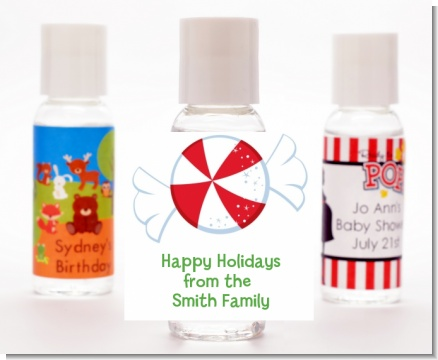 Peppermint Candy - Personalized Christmas Hand Sanitizers Favors