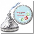 Peppermint Candy - Hershey Kiss Christmas Sticker Labels thumbnail
