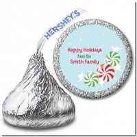 Peppermint Candy - Hershey Kiss Christmas Sticker Labels