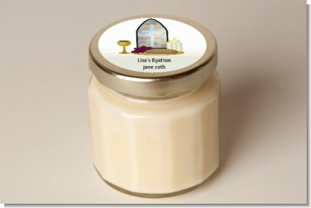 Personalized Candle Jar - Baptism Candle Favors - Baptism / Christening Personalized Candle Jar