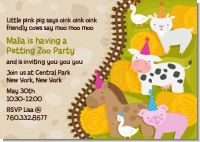 Petting Zoo - Birthday Party Invitations