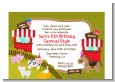 Petting Zoo Carnival - Birthday Party Petite Invitations thumbnail
