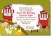 Petting Zoo Carnival - Birthday Party Invitations