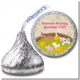 Petting Zoo - Hershey Kiss Birthday Party Sticker Labels