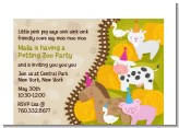 Petting Zoo - Birthday Party Petite Invitations