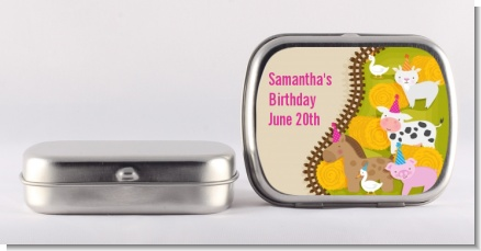 Petting Zoo - Personalized Birthday Party Mint Tins