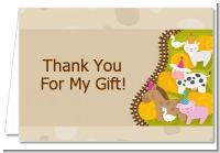 Petting Zoo - Birthday Party Thank You Cards