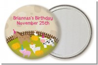 Petting Zoo - Personalized Birthday Party Pocket Mirror Favors