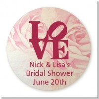 Philadelphia LOVE - Round Personalized Bridal Shower Sticker Labels