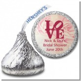 Philadelphia LOVE - Hershey Kiss Bridal Shower Sticker Labels