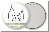 Philadelphia Skyline - Personalized Bridal Shower Pocket Mirror Favors