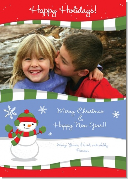 Frosty the Snowman - Personalized Photo Christmas Cards