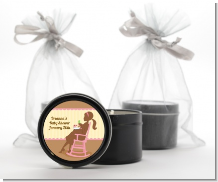 Pickles & Ice Cream - Baby Shower Black Candle Tin Favors